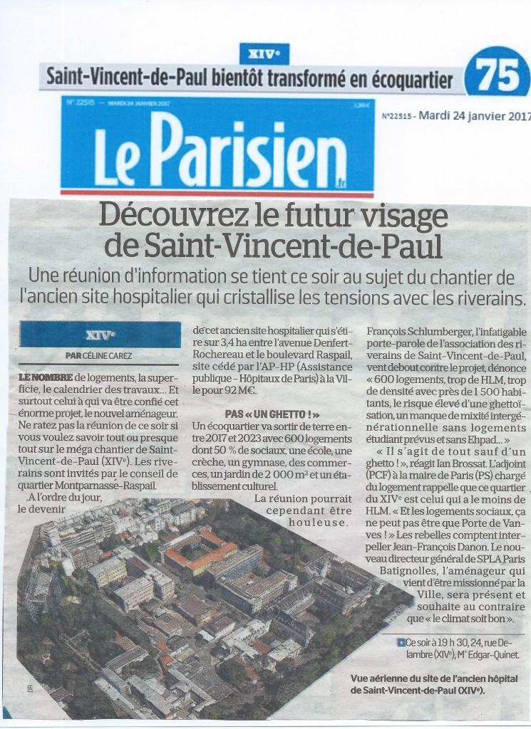 17-01-24 Le Parisien -Découvrez le futur visage de SVP