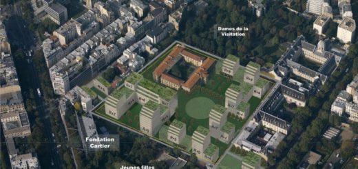 Hypothèse alternative pour l'aménagement du site Hopital Saint-Vincent-de-Paul Paris 14ème