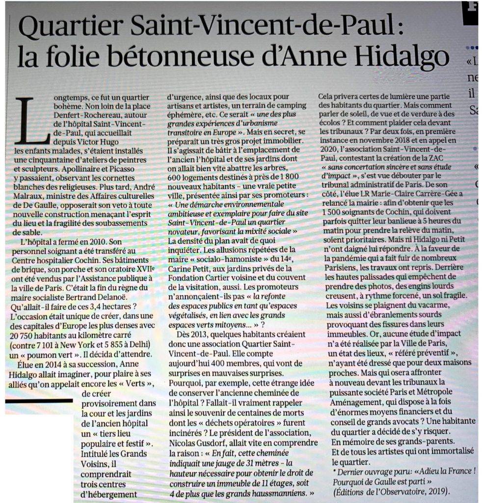 Article le Figaro du 8 mai 2021